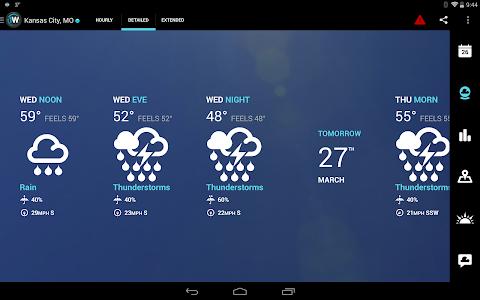 screenshot of 1Weather:Widget Forecast Radar version 3.1