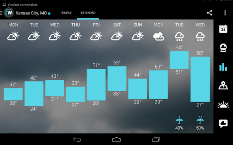 screenshot of 1Weather:Widget Forecast Radar version 3.2.1