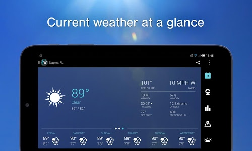 screenshot of 1Weather:Widget Forecast Radar version Varies with device