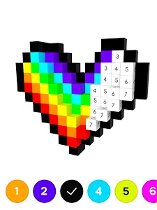 screenshot of 3D No.Draw – Color by Number version 1.0.9