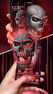 screenshot of 3D Tech Skull Launcher - Evil Halloween wallpaper version 5.64.10