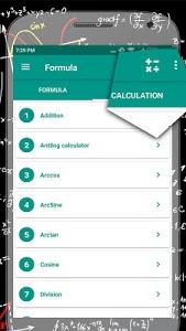 screenshot of All Maths Formulas version 1.8