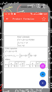 screenshot of All Maths Formulas version 1.4