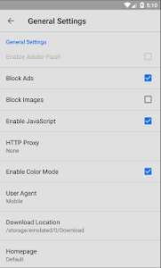 screenshot of Porn & Ads blocker browser version 1.1
