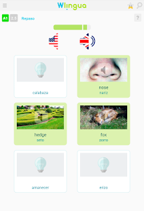 screenshot of Aprende inglés con Wlingua version 1.7.5
