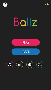 screenshot of Ballz version 1.1