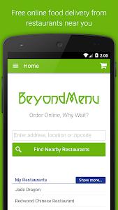 screenshot of BeyondMenu Food Delivery version 2.16