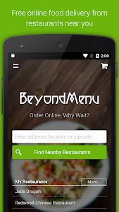 screenshot of BeyondMenu Food Delivery version 2.26