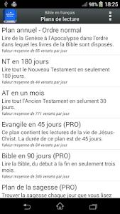 screenshot of Bible en français Louis Segond version 4.1