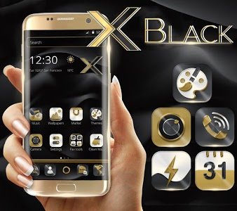 Download Black Gold Business Launcher 5.44.11 APK