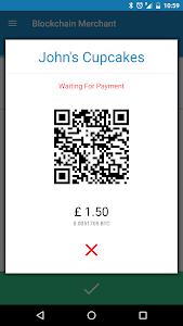 screenshot of Blockchain Merchant version 2.0.4