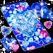 Blue hearts crystal diamonds live wallpaper