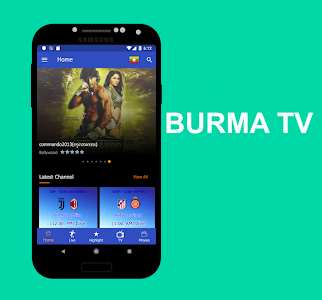 screenshot of Burma TV version 9.0