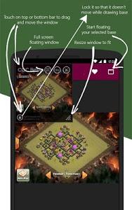 screenshot of Clash Base Designer for COC version 1.2.3