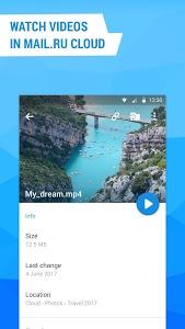 screenshot of Cloud Mail.Ru version Varies with device