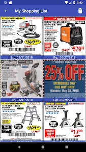 screenshot of Coupons for Harbor Freight version 1.11