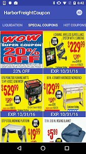 screenshot of Coupons for Harbor Freight version 1.07