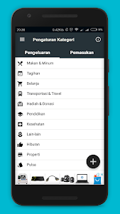 screenshot of Dompet Manager version 3.0.7 Free