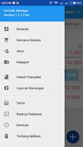 screenshot of Dompet Manager version 1.9.3
