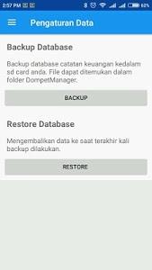 screenshot of Dompet Manager version 1.2.1