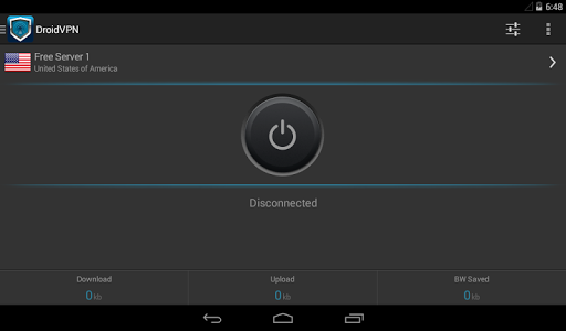 screenshot of DroidVPN - Easy Android VPN version 3.0.2.8
