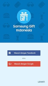 screenshot of Samsung Gift Indonesia version 2.3.0