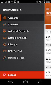 screenshot of GTBank version Varies with device