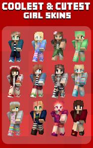 screenshot of Girl Skins for Minecraft version 1.1.0
