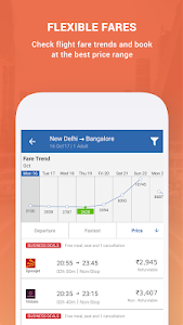 screenshot of Goibibo - Flight Hotel Bus Car IRCTC Booking App version 4.7.14