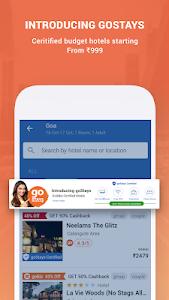 screenshot of Goibibo - Flight Hotel Bus Car IRCTC Booking App version 4.0.21