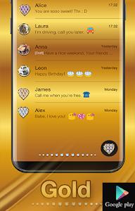 Download Gold Emoji Keyboard Theme 1.1.4 APK