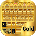Download Gold Emoji Keyboard Theme 1.1.4 APK