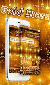 Download Gold Stars Keyboard Theme 6.8.18.2018 APK