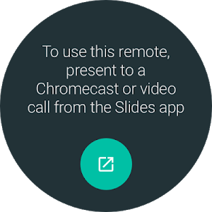 screenshot of Google Slides version Varies with device