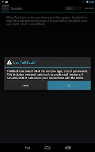 screenshot of Google TalkBack version 4.5.0