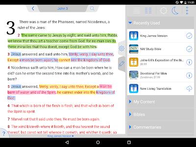 screenshot of Holy Bible King James + Audio version 7.15