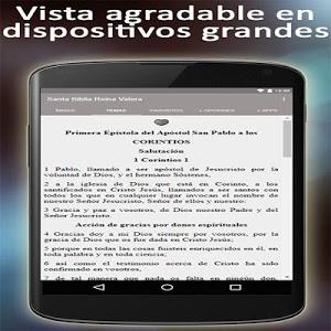 screenshot of Holy Bible Reina Valera 1960 in Spanish language version 1.06.6