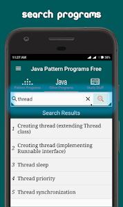 screenshot of Java Pattern Programs Free version 7.2.1