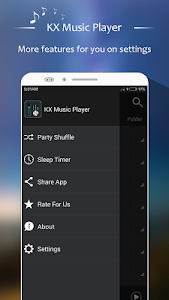 screenshot of KX Music Player version 1.2.9