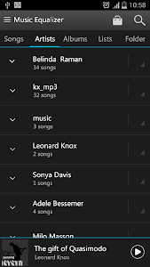 screenshot of KX Music Player version 1.1.2