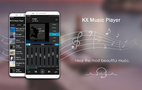 screenshot of KX Music Player version 1.2.3