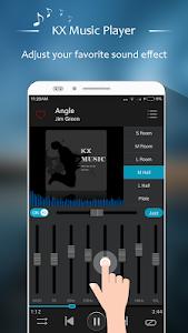 screenshot of KX Music Player version 1.2.8