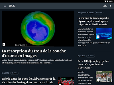 screenshot of Le Monde, l'info en continu version Varies with device