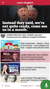 screenshot of Learn English through Videos - Listen & Record version 1.5.3