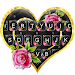 Download Lux Gold Black Heart Keyboard Theme 1.0 APK