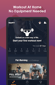 screenshot of ManFIT – Muscle building Exercise, Home Workout version 1.3.8