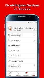 screenshot of MeinVodafone version 8.5.0.0