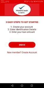 screenshot of MobiCash Loans version 1.3