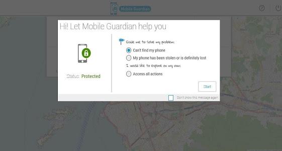 screenshot of Mobile Guardian version 1.1.0.1388