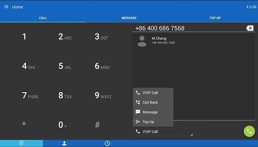 screenshot of MobileVOIP Cheap international Calls version Varies with device